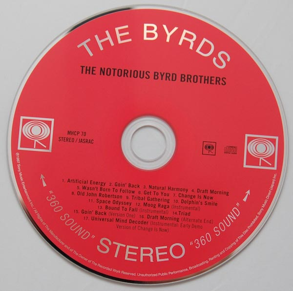 CD, Byrds (The) - The Notorious Byrd Brothers (+6