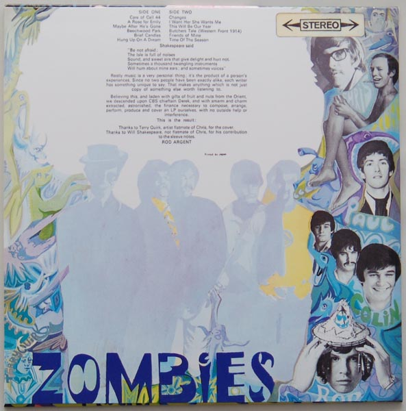 Back cover, Zombies (The) - Odessey and Oracle +3