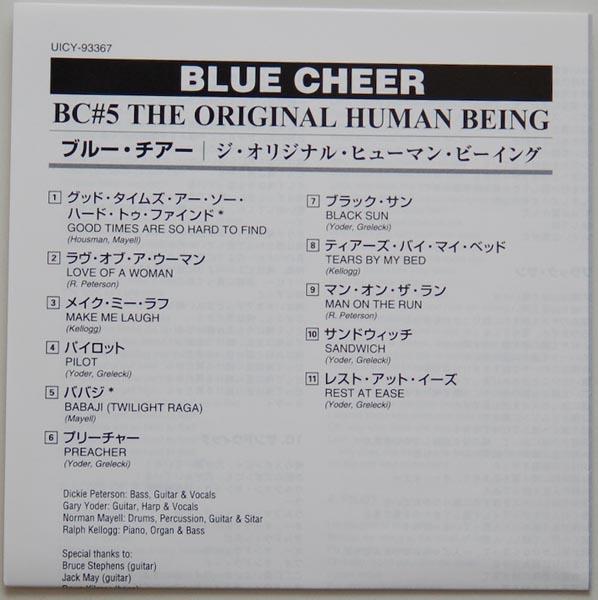 Lyric book, Blue Cheer - The Original Human Being