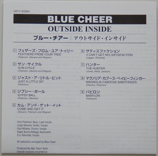 Lyric book, Blue Cheer - Outsideinside