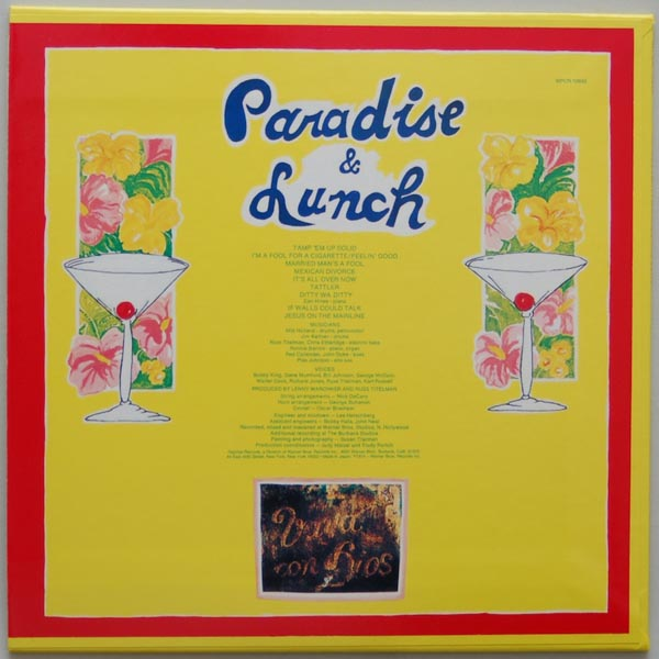 Back cover, Cooder, Ry - Paradise And Lunch