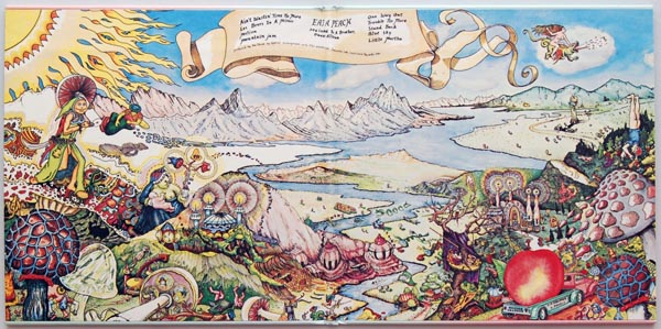 Gatefold open, Allman Brothers Band (The) - Eat A Peach