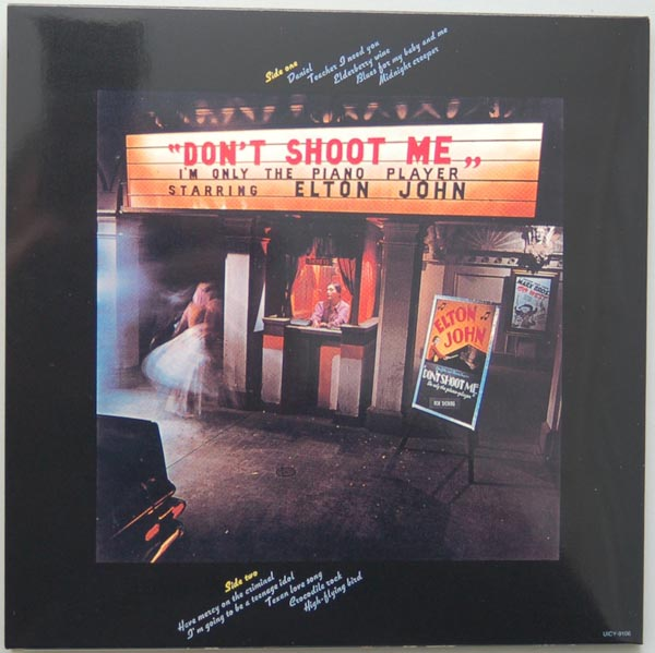 Back cover, John, Elton - Don't Shoot Me, I'm Only The Piano Player (+4)