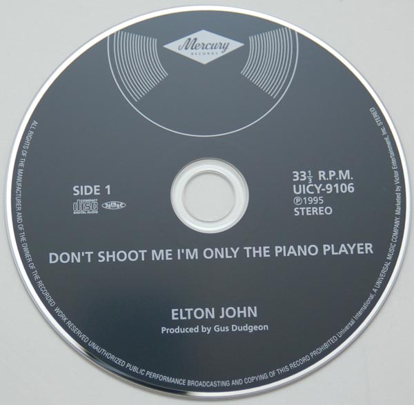 CD, John, Elton - Don't Shoot Me, I'm Only The Piano Player (+4)