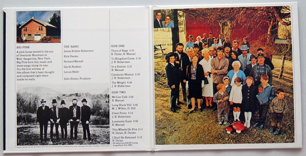 Gatefold open, Band (The) - Music From Big Pink +9