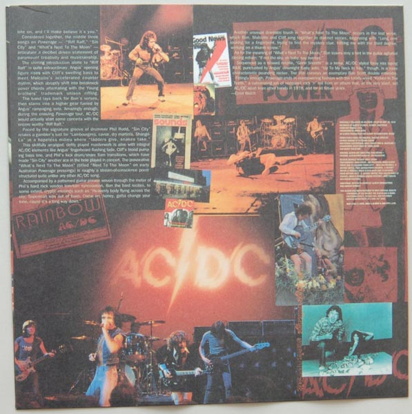 Inner sleeve side B, AC/DC - Powerage