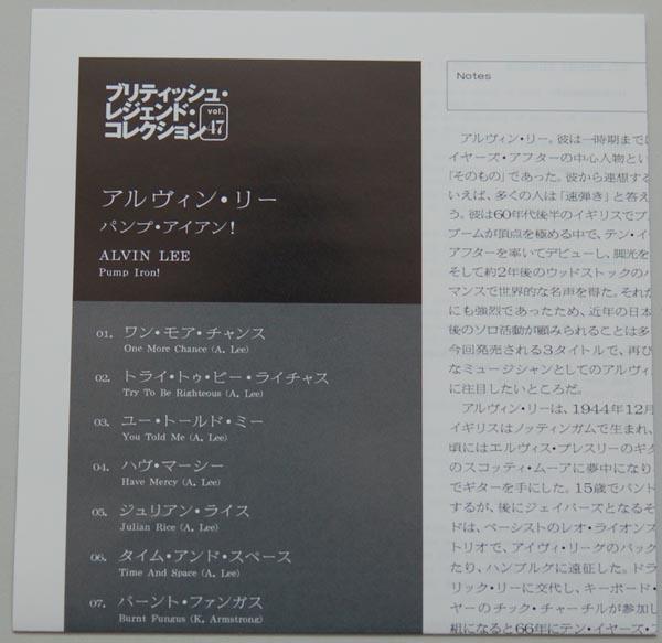 Lyric book, Lee, Alvin - Pump Iron