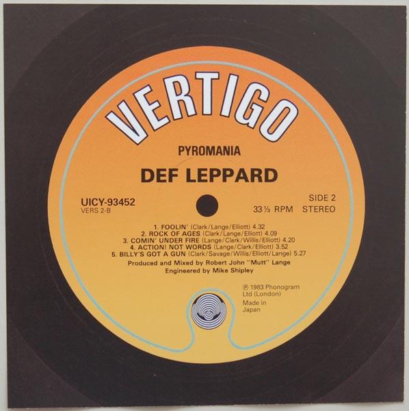 Back Label, Def Leppard - Pyromania