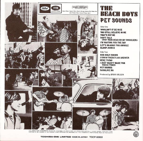 Back Cover, Beach Boys (The) - Pet Sounds