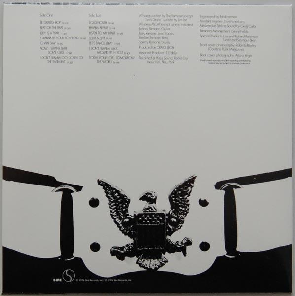 Back cover, Ramones - Ramones + 8