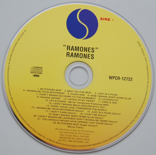 CD, Ramones - Ramones + 8