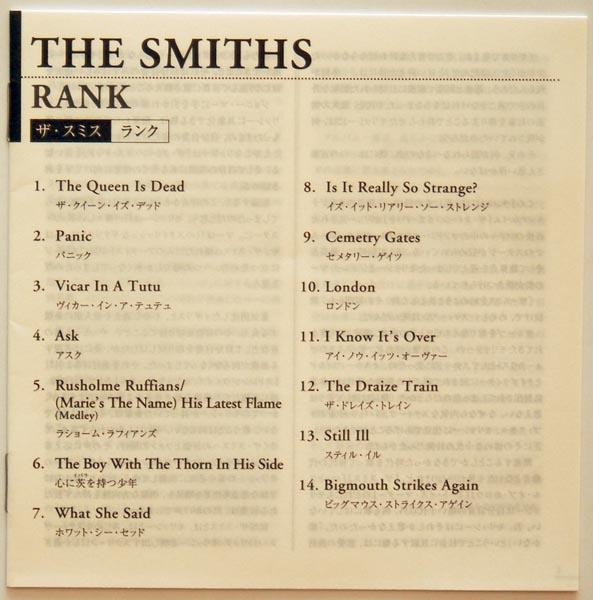 Lyrics sheet, Smiths (The) - Rank