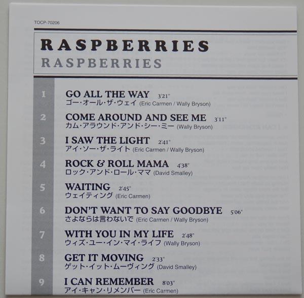Lyric book, Raspberries - Raspberries