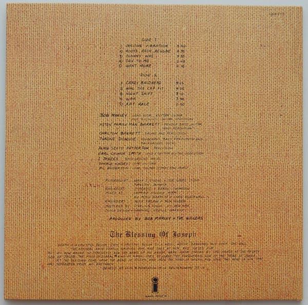 Back cover, Marley, Bob - Rastaman Vibration