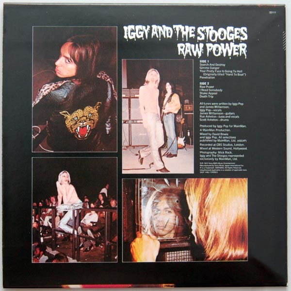 Back cover, Pop, Iggy (and The Stooges) - Raw Power