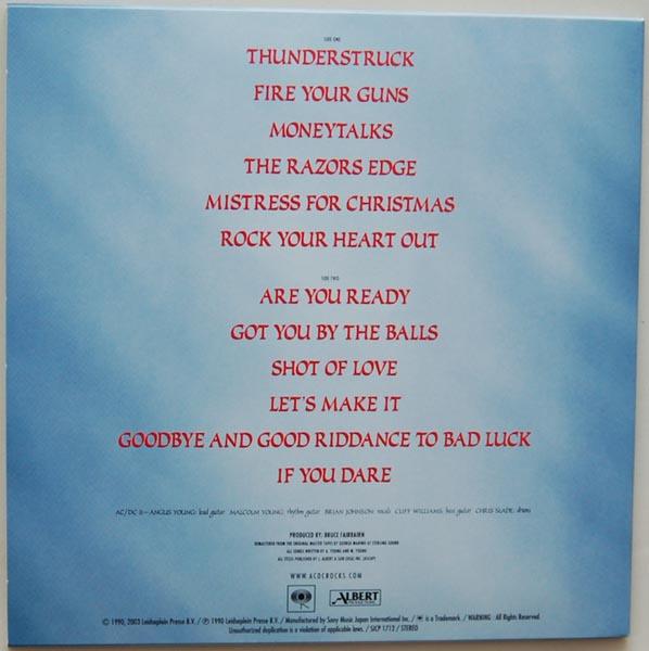 Back cover, AC/DC - Razors Edge