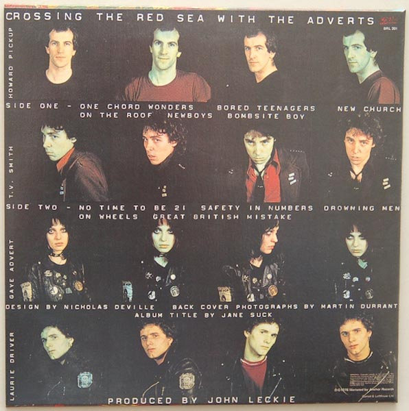 Back cover, Adverts (The) - Crossing The Red Sea With The Adverts