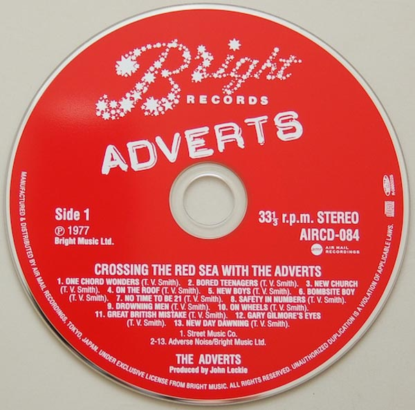 CD, Adverts (The) - Crossing The Red Sea With The Adverts