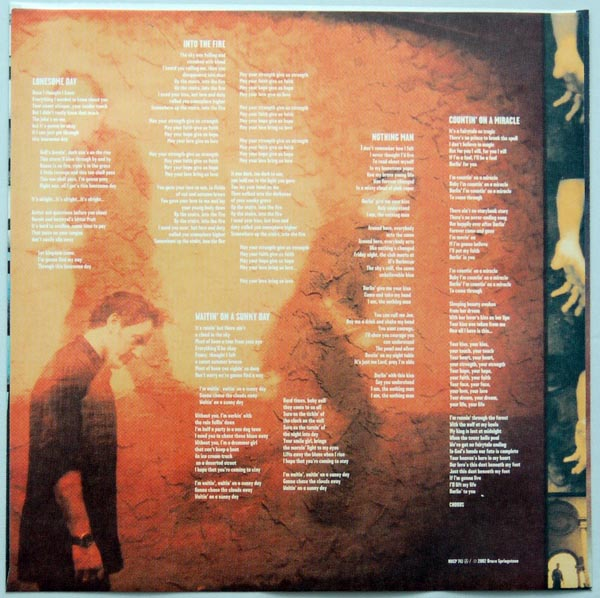 Inner sleeve 1B, Springsteen, Bruce - The Rising
