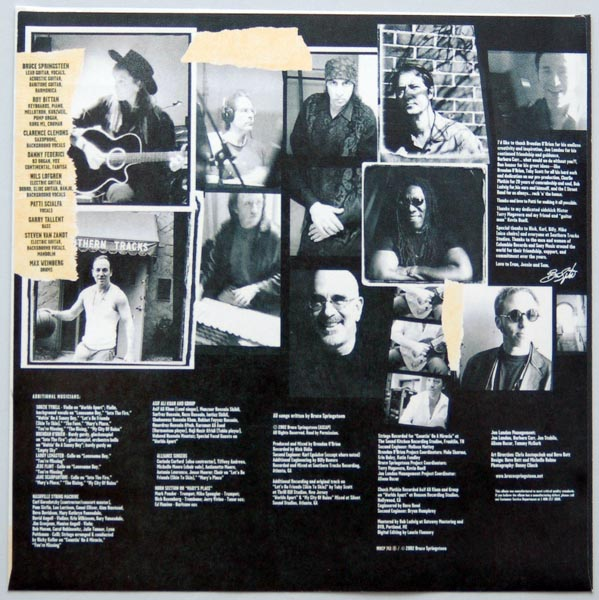 Inner sleeve 2B, Springsteen, Bruce - The Rising