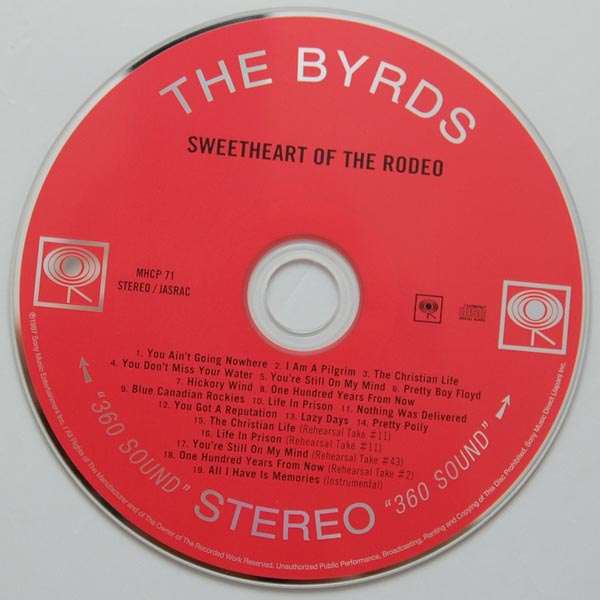 CD, Byrds (The) - Sweetheart Of The Rodeo +8