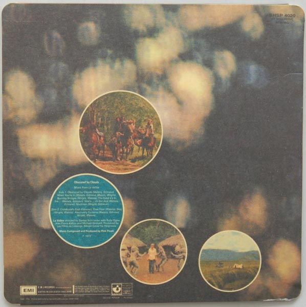 Back cover, Pink Floyd - Obscured By Clouds