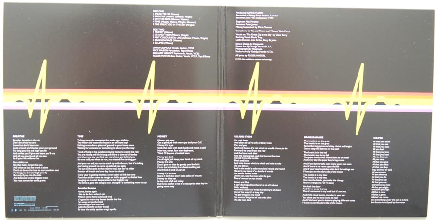 Gatefold open, Pink Floyd - The Dark Side Of The Moon