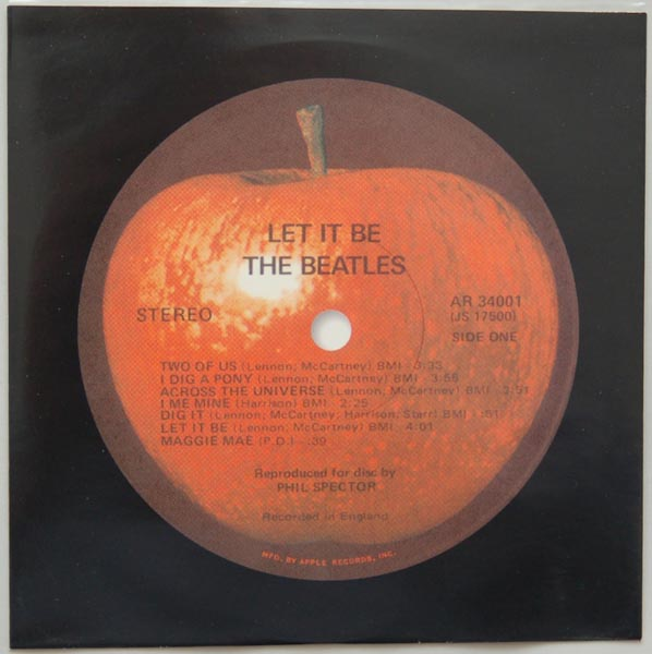 Inner sleeve side A, Beatles (The) - Let It Be