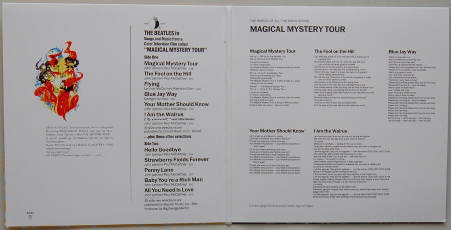 Gatefold open, Beatles (The) - Magical Mystery Tour