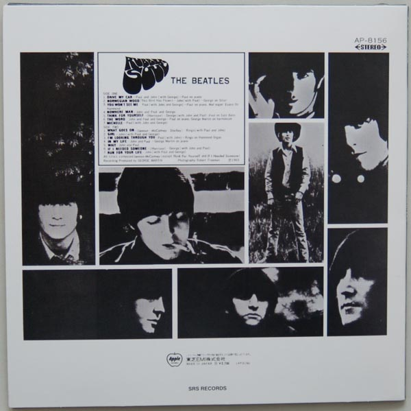 Back cover, Beatles (The) - Rubber Soul