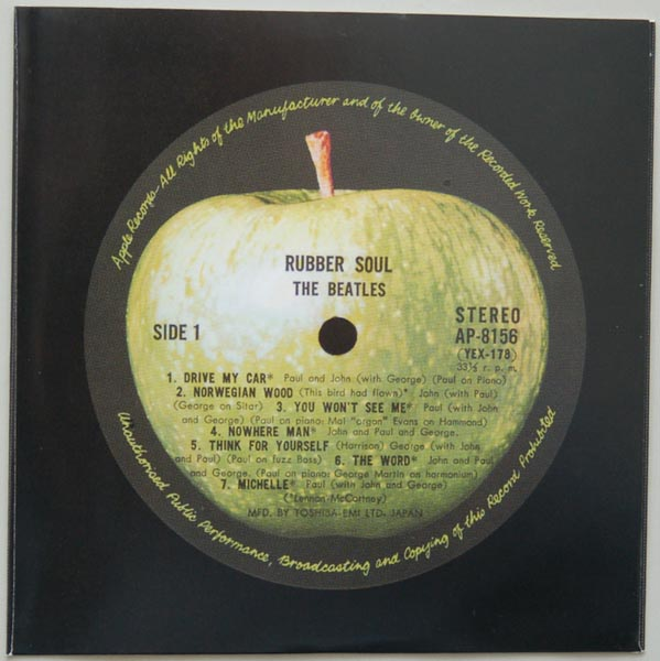 Inner sleeve side A, Beatles (The) - Rubber Soul