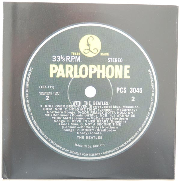 Inner sleeve side B, Beatles (The) - With The Beatles