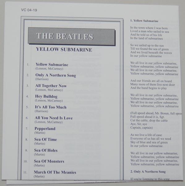 Lyric book, Beatles (The) - Yellow Submarine
