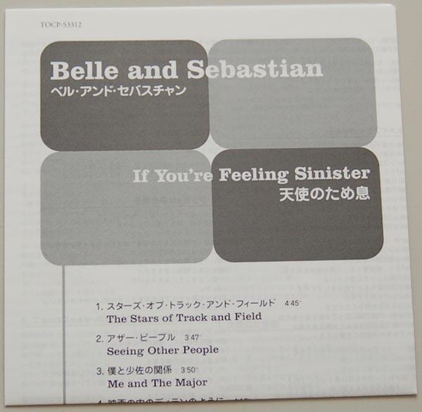Lyric book, Belle + Sebastian - If You're Feeling Sinister
