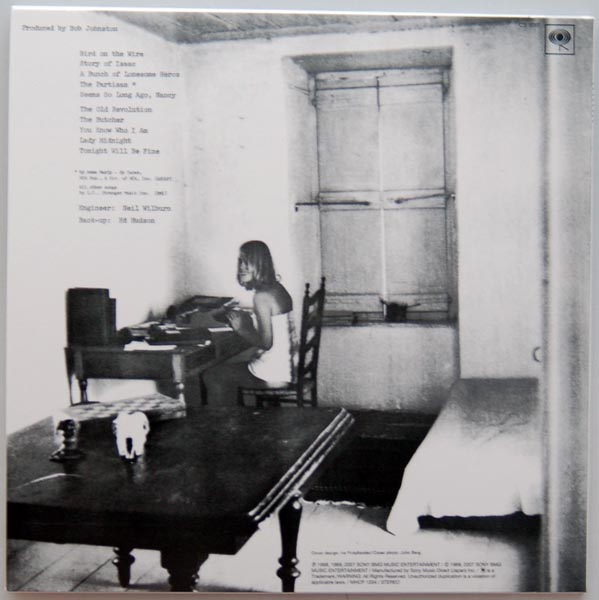 Back cover, Cohen, Leonard - Songs From A Room +2