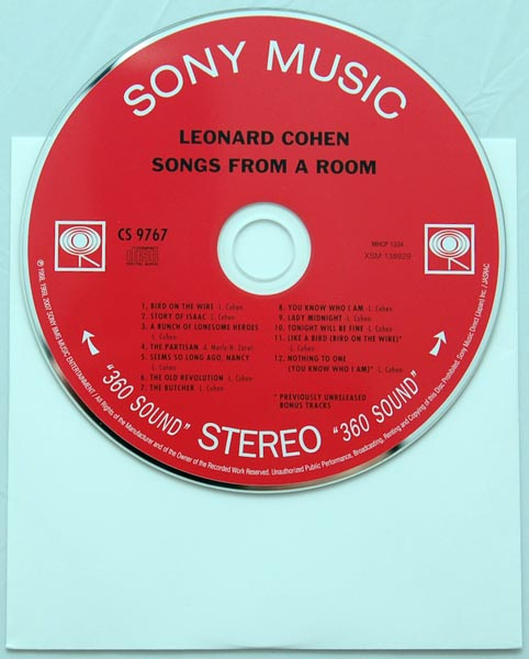 CD, Cohen, Leonard - Songs From A Room +2
