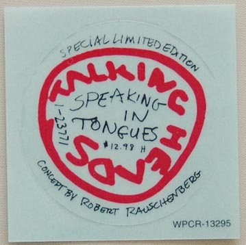 Sticker, Talking Heads - Speaking In Tongues (+2)