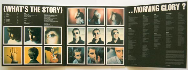 Gatefold open, Oasis - (What's the Story) Morning Glory