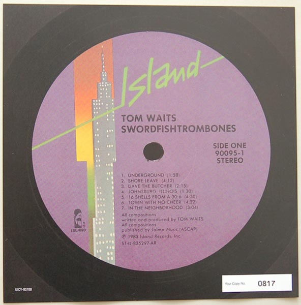 Font Label (numbered), Waits, Tom - Swordfishtrombones