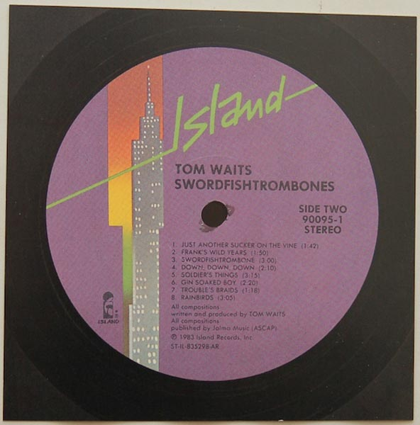 Back Label, Waits, Tom - Swordfishtrombones