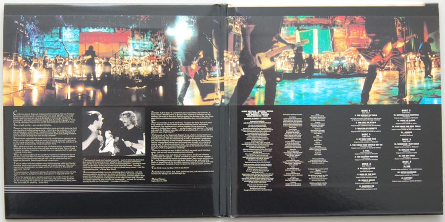Gatefold open, Metallica - S&M