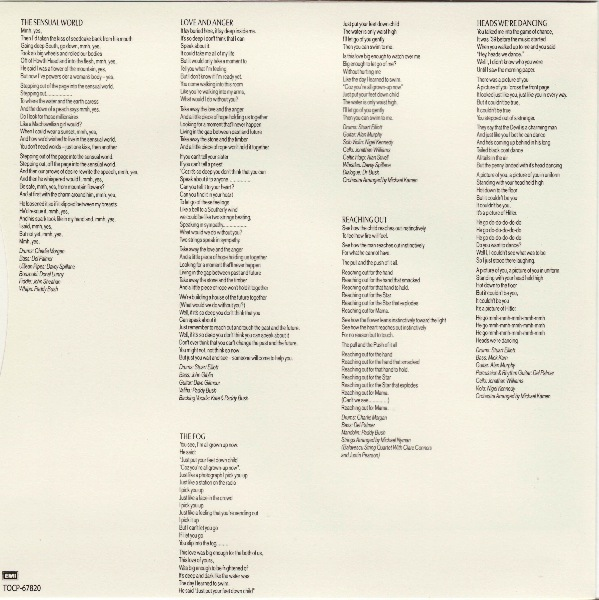 inner sleeve front, Bush, Kate - Sensual World