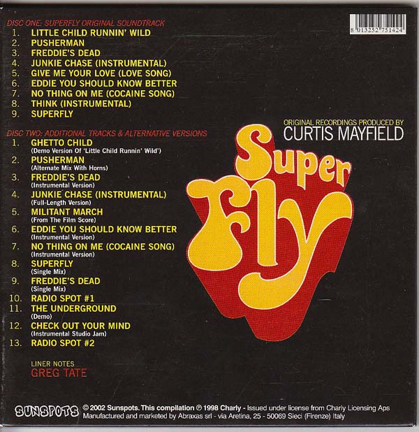 Back Cover, Mayfield, Curtis - Superfly