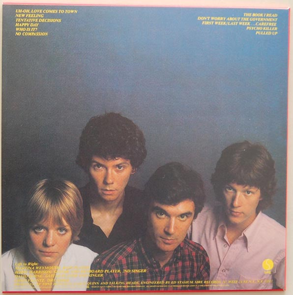 Back cover, Talking Heads - Talking Heads: 77 + 5