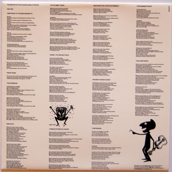 Inner sleeve B, Billy Bragg - Talking With The Taxman About Poetry