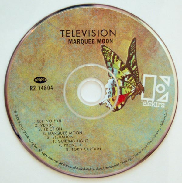 CD, Television - Marquee Moon