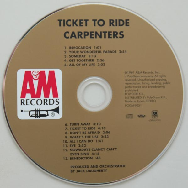 CD, Carpenters - Ticket to Ride