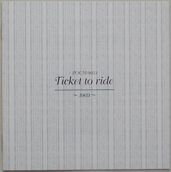 Lyric book, Carpenters - Ticket to Ride