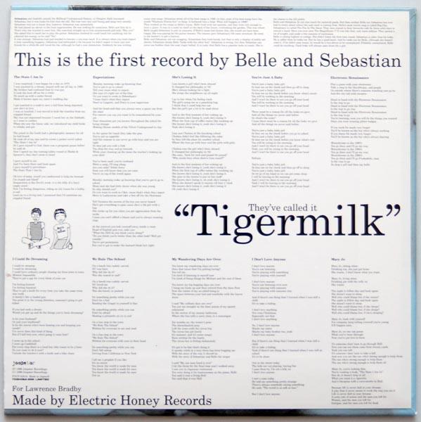 Back cover, Belle + Sebastian - Tigermilk