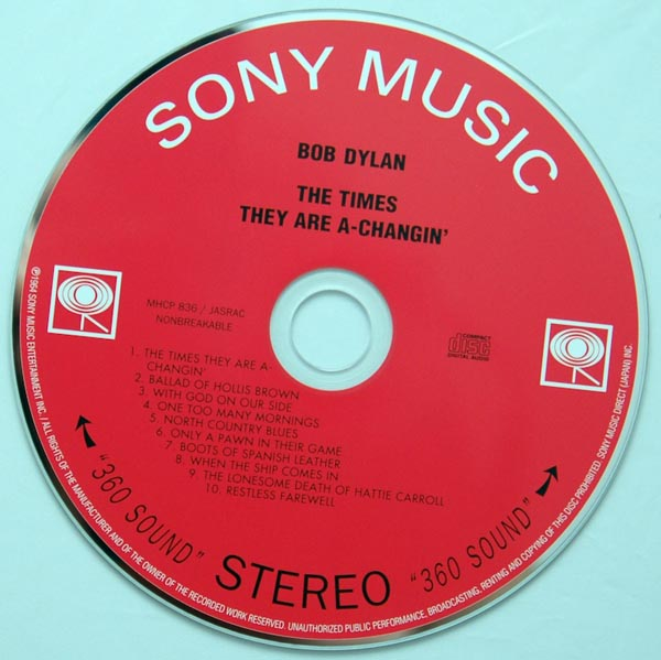 CD, Dylan, Bob - Times They Are A-Changin'